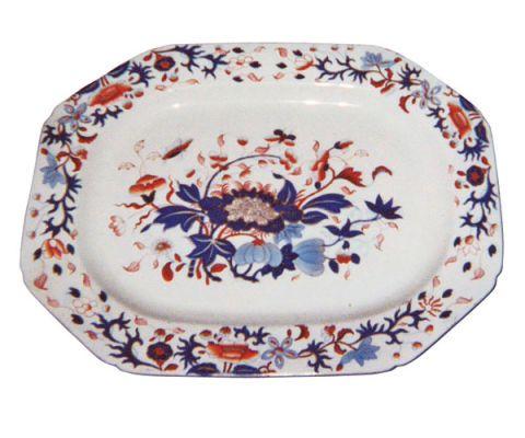 floral print platter