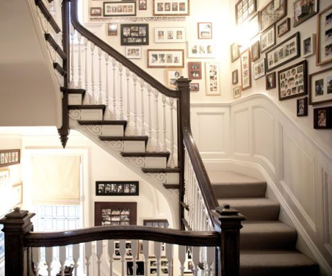 stairwell photo gallery photo frames