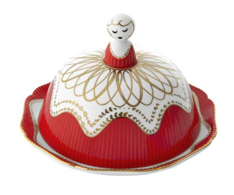 red maiden round butter dish anthropology