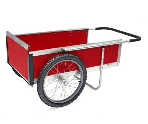 red garden cart wagon