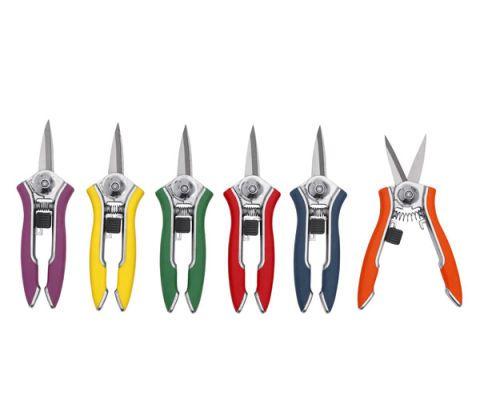 purple yellow green red blue orange dramm shears garden tools