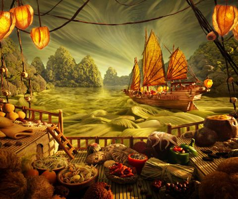 carl warner chinese junk foodscape
