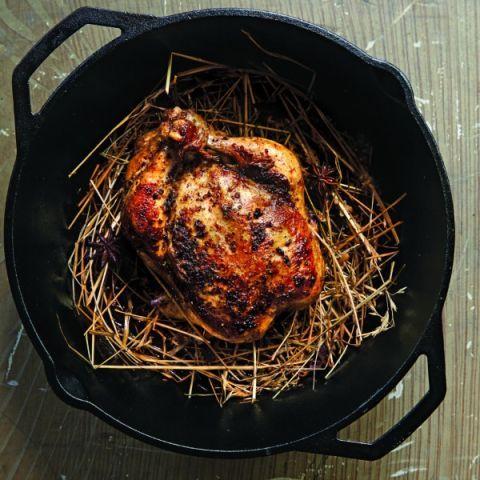 hay roasted chicken