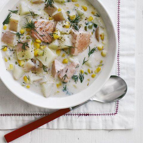 creamy salmon chowder