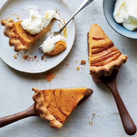 sweet potato pie with cornmeal crust
