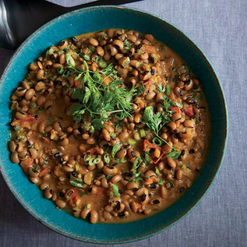 black eyed peas with coconut milk and ethiopian spices