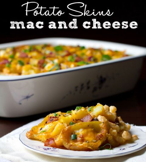 potato skins mac and cheese