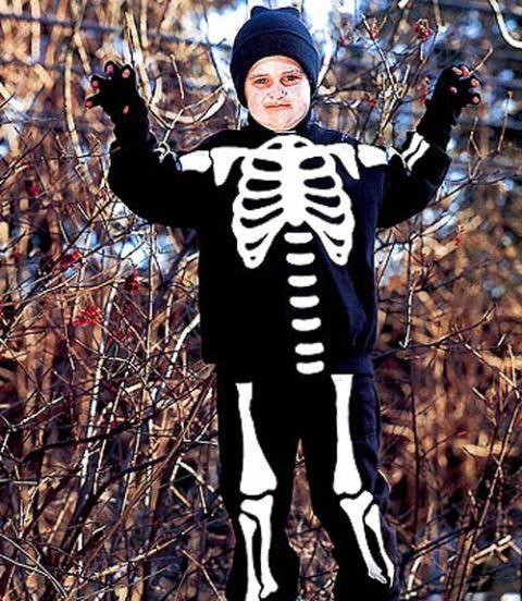 Skeleton Halloween Costume - How to Make a Child's Skeleton ...