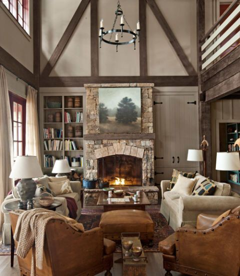 19 Log Cabin Home Décor Ideas: Rustic Lake House Decorating Ideas