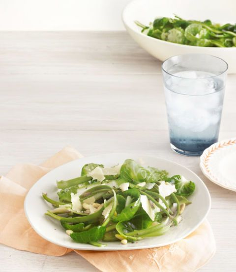 shaved asparagus and brussels sprout salad