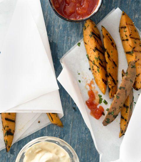 garlicky sweet potato fries