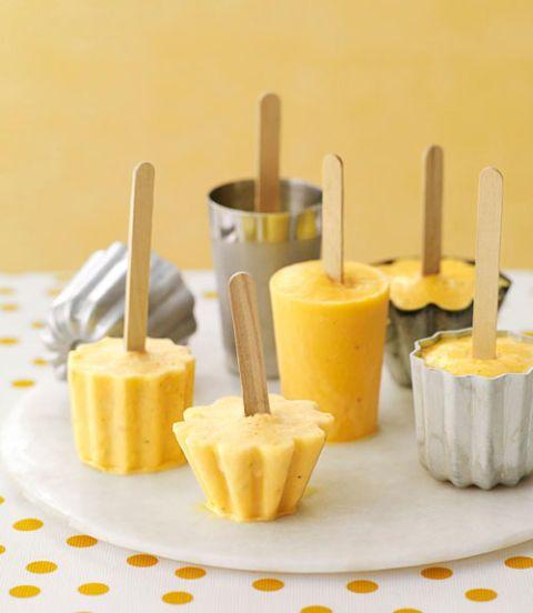 orange banana smoothie popsicles