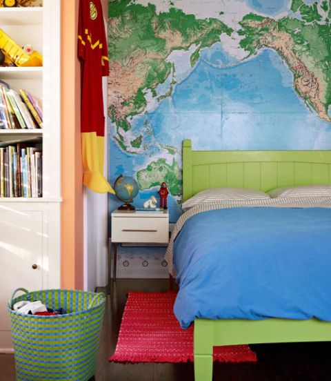Retro Bedroom Wallpaper Bedroom Ideas Yellow Walls Eclectic Bedroom Decorating Ideas Kids Bedroom Wallpaper Designs: Bedroom Design And Decorating For Kids