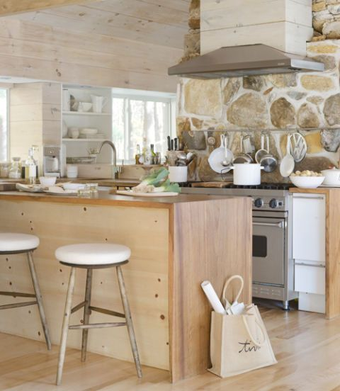 modern cabin kitchen