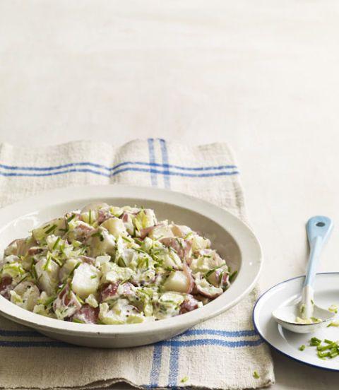 potato salad with creme fraiche