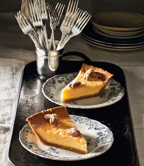 buttermilk pie with pecan crust