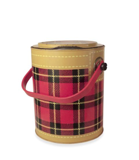 vintage tin ice bucket