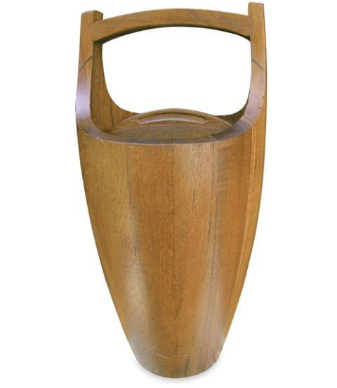 teak wooden ice bucket