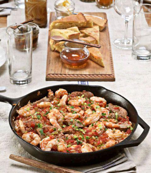 savannah red rice with shrimp and smoked sausage