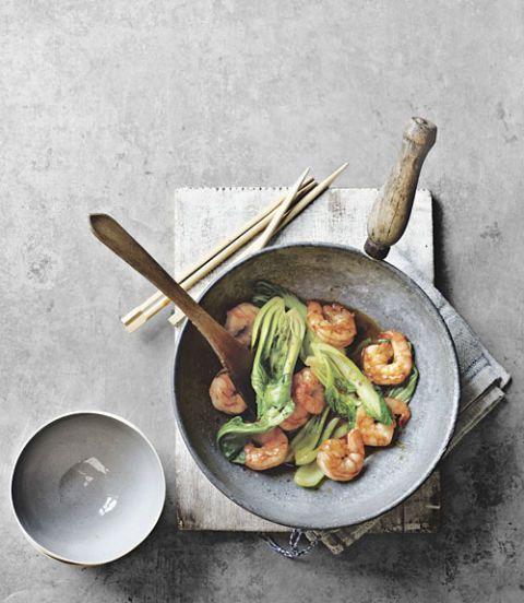 jumbo shrimp bok choy