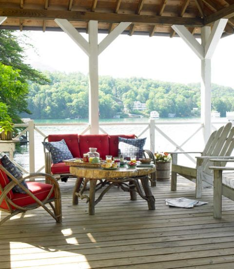 deck with furniture on it