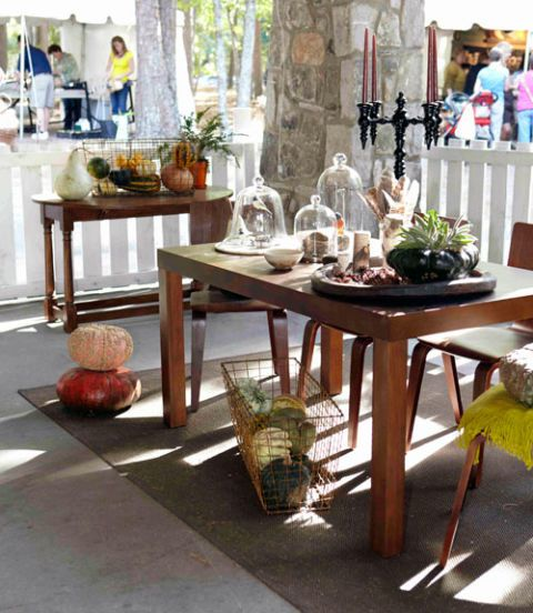 Table, Furniture, Outdoor table, Interior design, Flowerpot, Houseplant, Centrepiece, Peach, Wicker, Outdoor furniture,