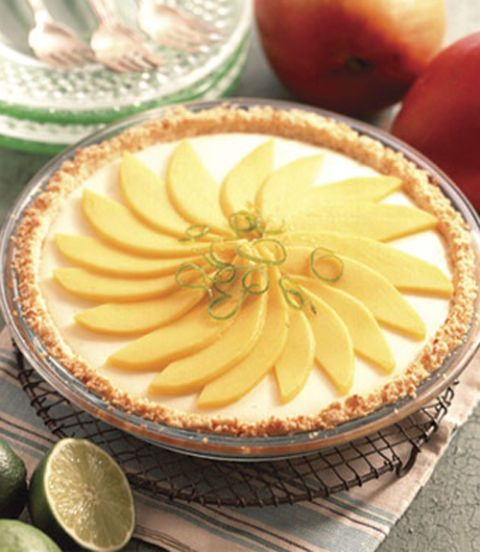 Tropical Lime and Mango Pie