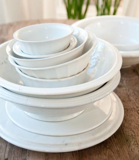 Decorate with white serving dishes