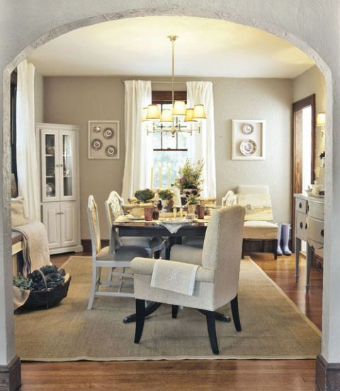 Attractive Neutral Toned Dining Room Awesome Ideas