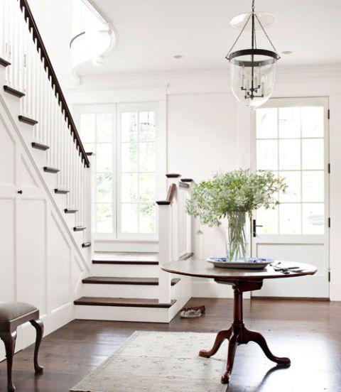 Stairs, Wood, Room, Interior design, Floor, Flooring, Hardwood, Furniture, Light fixture, Wall,