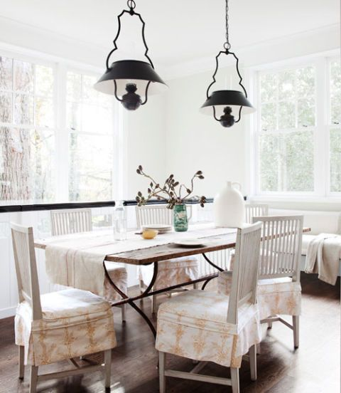 Room, Interior design, Floor, Wood, Furniture, Table, White, Home, Light fixture, Wall,
