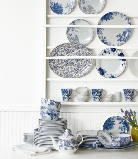blue and white ceramics