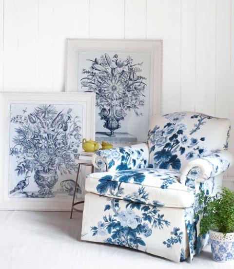 Trend Alert Dalmatian Print Home Decor: Blue Botanical Home Accessories