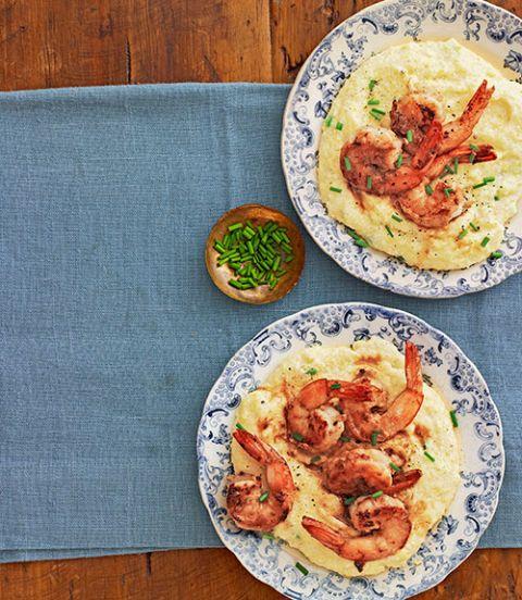 ginger garlic shrimp and grits