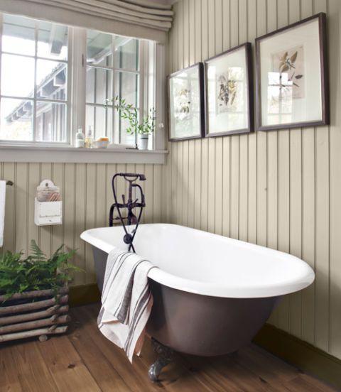paneled walls bathroom