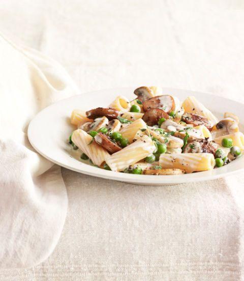 rigatoni with sausage peas and mushrooms