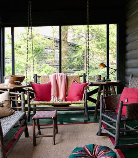 Creative Screened Porch Design Ideas: Ideas For Red Rooms And Home Decor