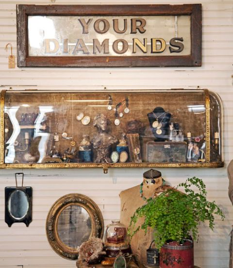 small antiques display