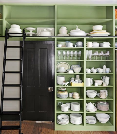 Charmant Green Shelving