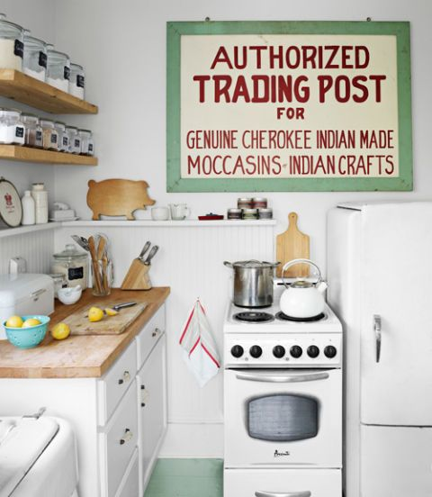 kitchen trading post sign