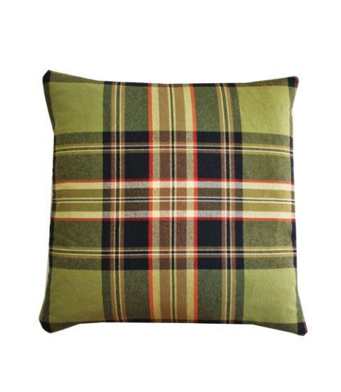 Green, Brown, Yellow, Plaid, Textile, Tartan, Pattern, Khaki, Linens, Cushion,