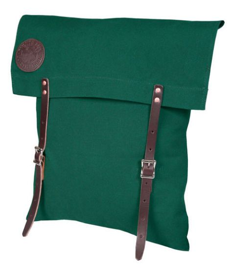 green canoe pack with straps