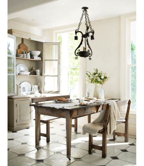 vintage breakfast nook
