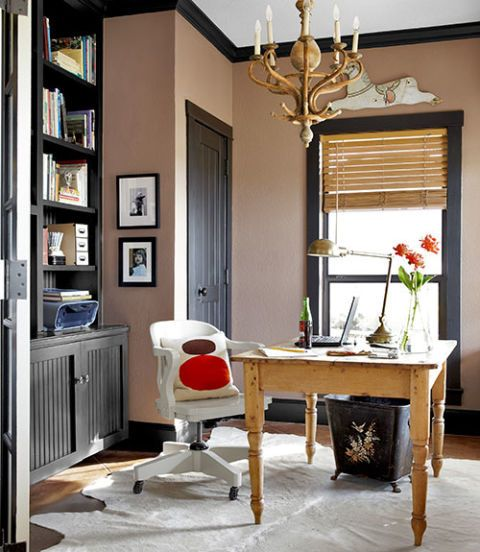 Work In Coziness 20 Farmhouse Home Office Décor Ideas: How To Decorate A Home Office
