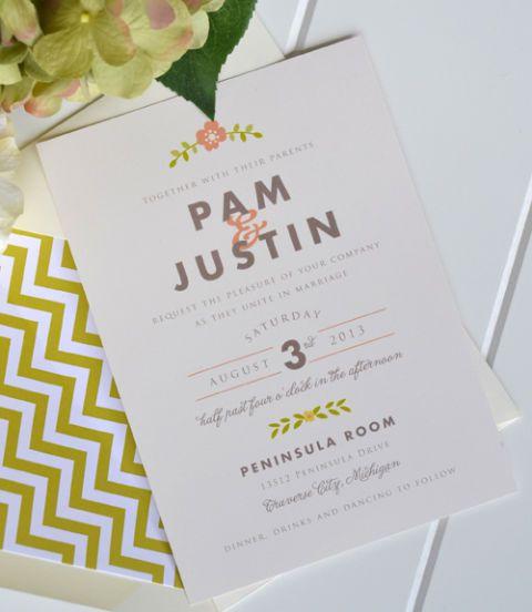 Affordable Handmade Wedding Invitations Cheap Etsy