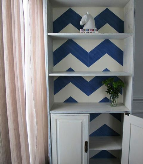 shangri-la lane bookshelf makeover before