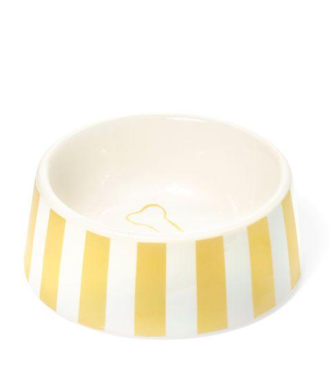 striped pet bowl