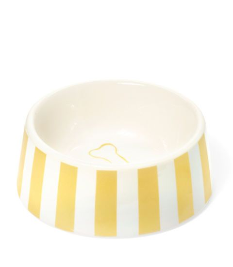 striped pet bowl
