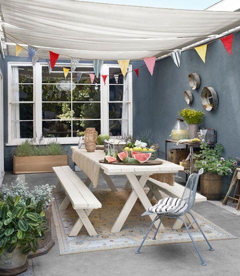 Flowerpot, Plant, Furniture, Table, Outdoor furniture, Chair, Outdoor table, Houseplant, Interior design, Garden,