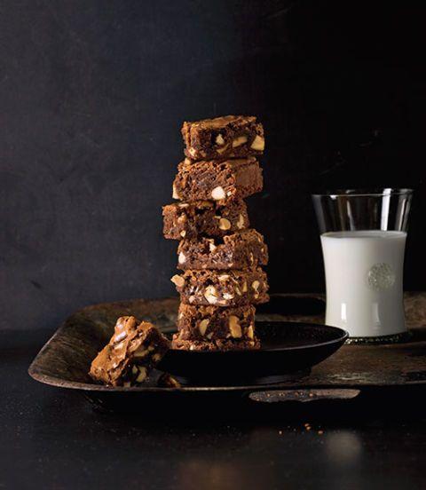 salty nougat fudge brownies